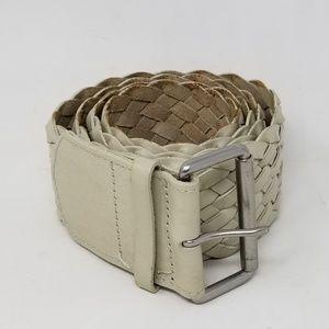 GAP Genuine Leather Braided Wide Belt Women's Sz L
